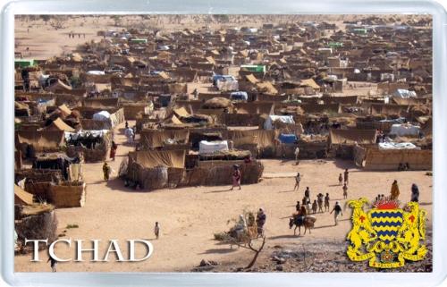Магнит на холодильник: Чад. Палаточный город