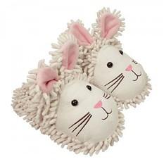 Тапочки Fuzzy Friends Белые кролики