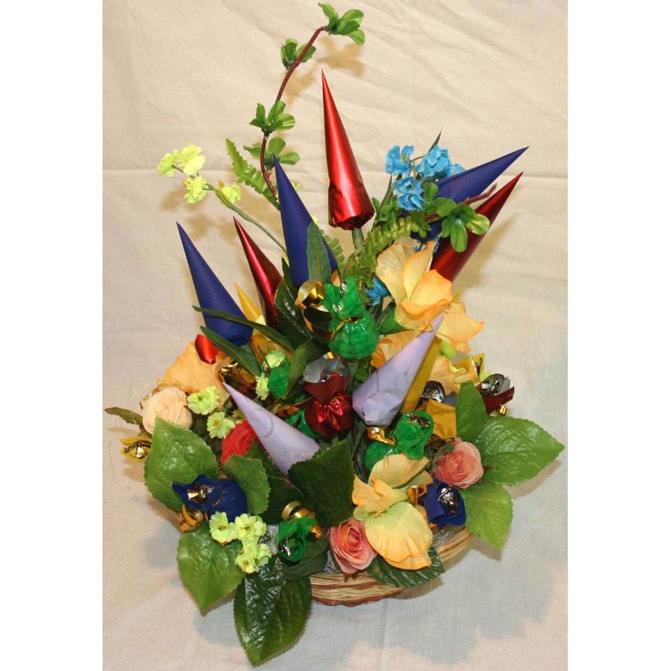 Букет из конфет Весенний сад