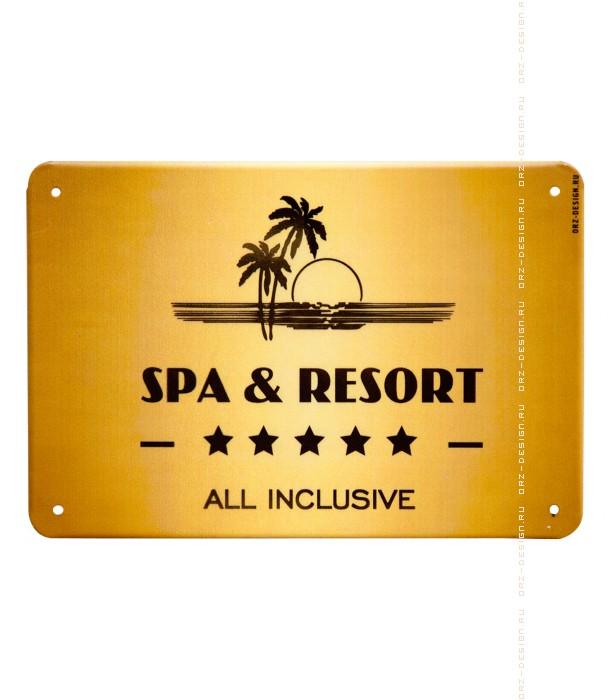 Табличка на дверь Spa and resort