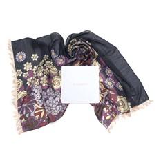 Стильный теплый палантин с оригинальными цветами Nina Ricci