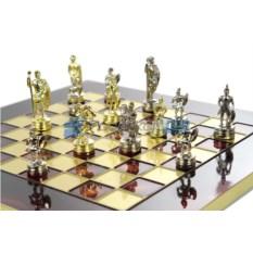 Малые шахматы на красной доске Греко-Римские в кейсе