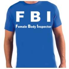Футболка с надписью FBI