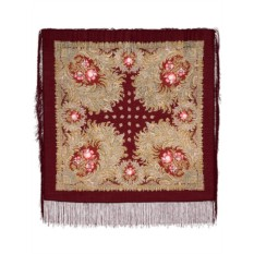 Павлопосадский шерстяной платок Лесное чудо