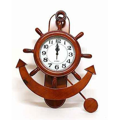 Часы настенные «Штурвал и якорь»