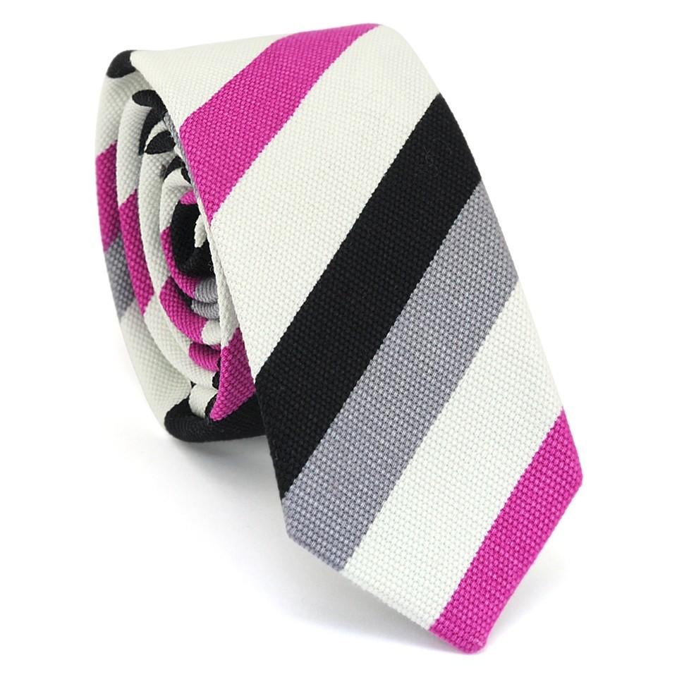 Узкий галстук (розовый)