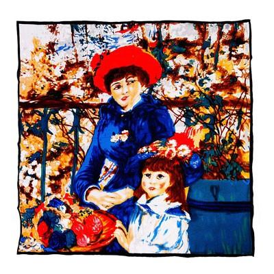 Платок «Девочка с мамой» Ренуар