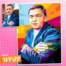 WPAP портрет для мужчины на холсте по фото