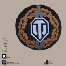 Декоративная круглая подушка с лого игры World of Tanks