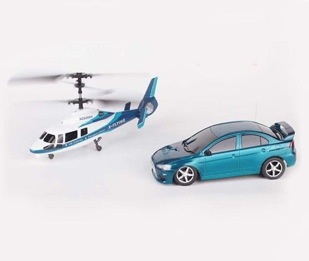 Игровой набор вертолет и машина Winyea