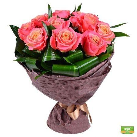 Букет цветов Крем-брюле
