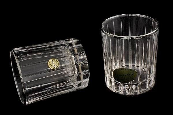Подарочный хрустальный набор из 6 стопок для водки Pisa Silver
