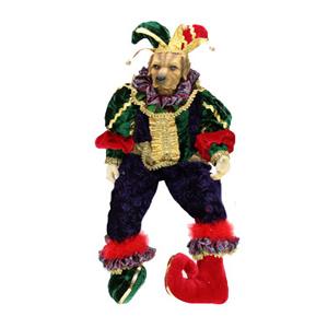 Кукла декоративная «Собачка-клоун»