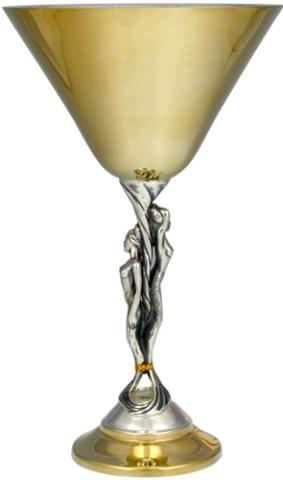 Серебряный бокал Мартини
