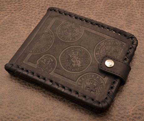 Портмоне. Коллекция Magistro (черный; с декоративным тиснением; тип 2; нат. кожа)