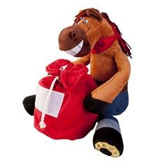 Игрушка в виде коня с мешком Несу подарки!