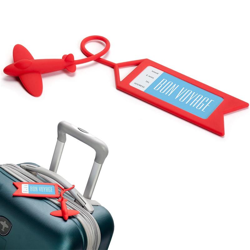 Красная бирка для багажа Tag me