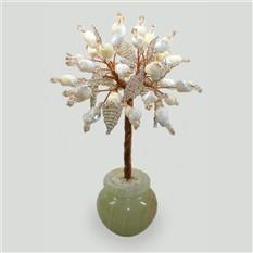 Любовное дерево из перламутра в вазочке из оникса