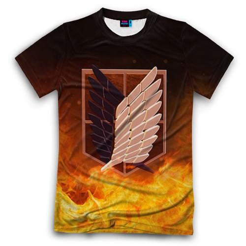 Мужская футболка 3D с полной запечаткой Атака Титанов