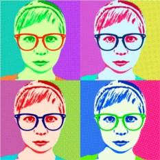 Портрет по фотографии в стиле поп-арт