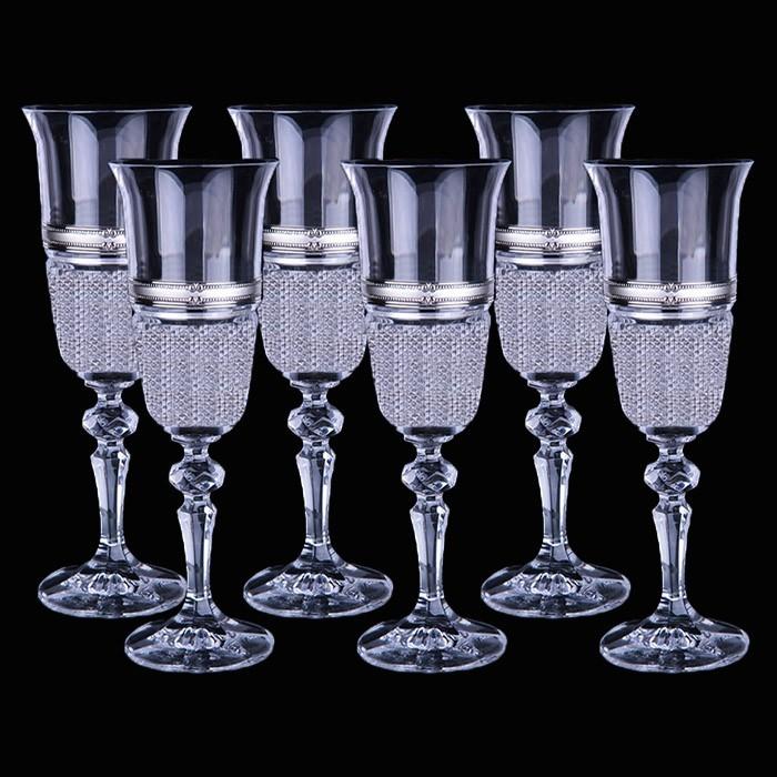 Набор из шести бокалов для шампанского от Linea Argenti