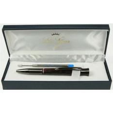 Коричневая мраморная шариковая ручка La Geer