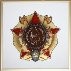 Картина с кристаллами Swarovski Орден Александра Невского