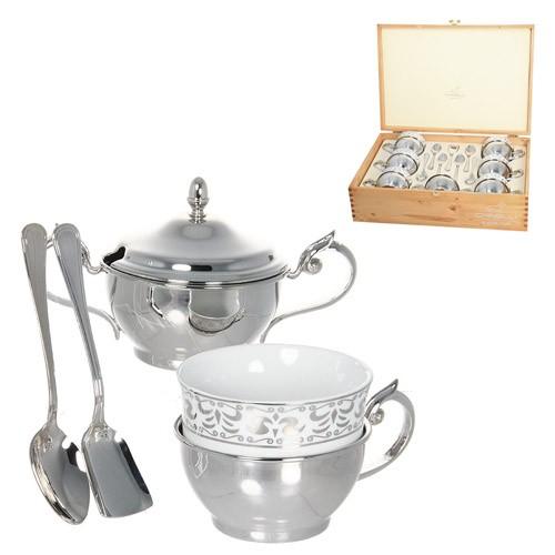 Чайный сервиз СЕРЕБРЯНЫЕ УЗОРЫ на 6 персон