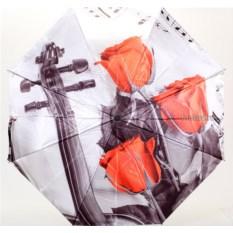 Женский зонт с нотами и цветами Flioraj