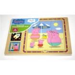 Игровой набор «Пазл трехслойный», дерево, Peppa Pig