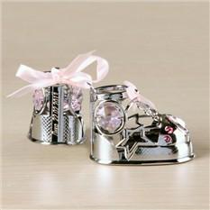 Сувенир на рождение с роз. кристаллами с именной гравировкой