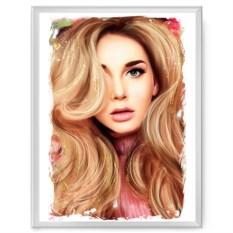 Постер в рамке с портретом по вашему фото Fashion art