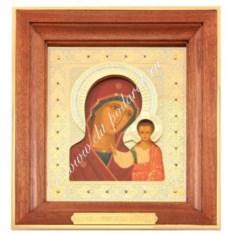 Икона Казанская Богоматерь с золочением