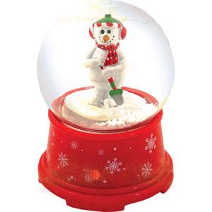Музыкальный снежный шар «Снеговик»