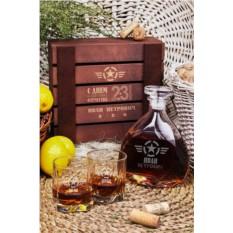 Именной подарочный набор для виски Защитнику Отечества