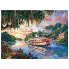 Картина-раскраска по номерам на холсте Долина реки