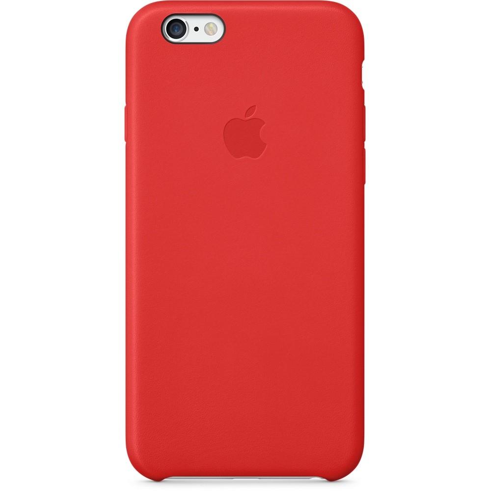 Красный кожаный чехол для Apple iPhone 6