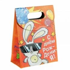 Подарочный пакет С Днем Рождения! Зайка