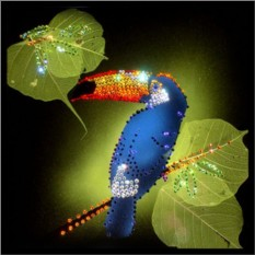 Картина с кристаллами Swarovski Тукан
