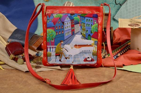 Женская сумка-планшет с принтом Волшебная мелодия