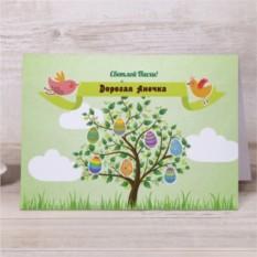 Именная открытка Счастливой Пасхи