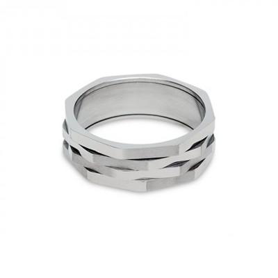 Кольцо титан «Гайка четверная»