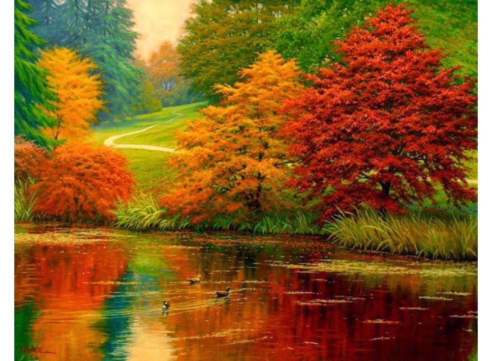Картины по номерам «Осенний карнавал» Чарльза Уайта