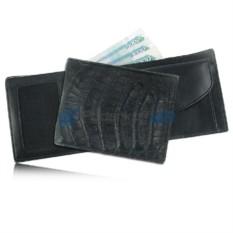 Мужской кошелёк из кожи крокодила, чёрный