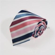 Розово-фиолетовый галстук в полоску Idea Seta