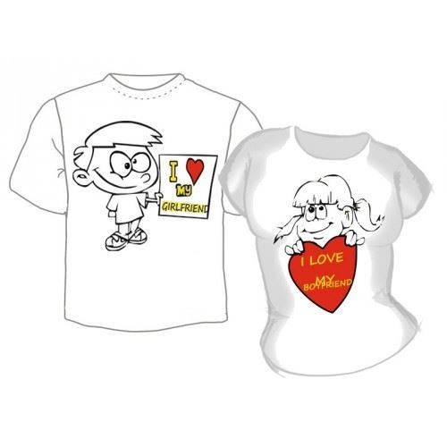 Парные футболки Я люблю свою девушку, парня