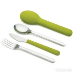 Зеленый набор столовых приборов Goeat cutlery set