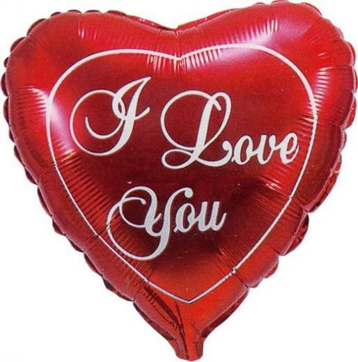 Шар из фольги Сердце (I love you)