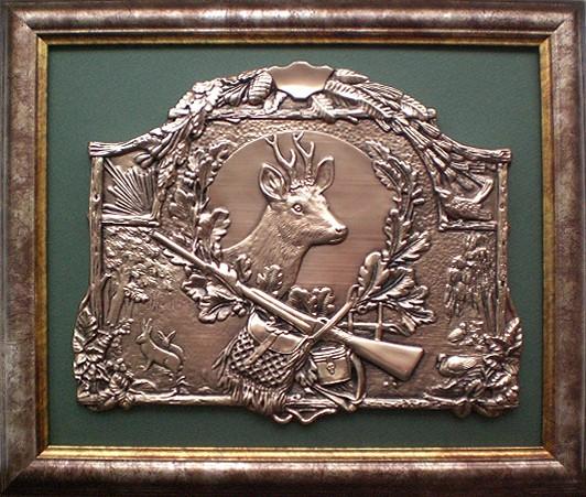 Картина из металла Охота на оленя