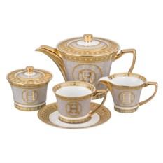 Золотистый чайный сервиз на 6 персон Н